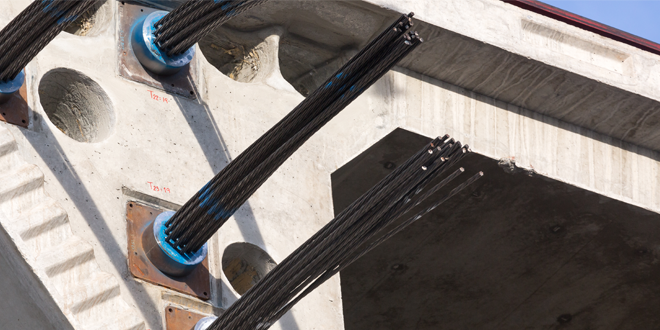 Prestressed concrete and stranded wires