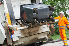 Collecting waste and household rubbish
