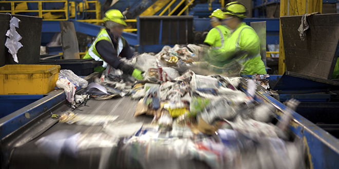 Sorting, recycling and recovery of waste